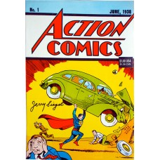 Action 1 Reprint - Signed by Jerry Siegel