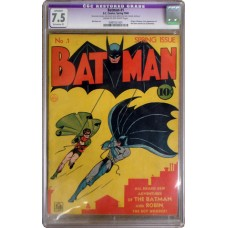 Batman 1 1940 CGC Graded 7.5