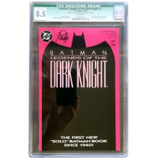 Legends of the Dark Knight #1- Signed by Bob Kane - CGC Graded 8.5
