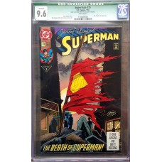 Superman 75 - Signed by Jerry Siegel - CGC Graded 9.6!