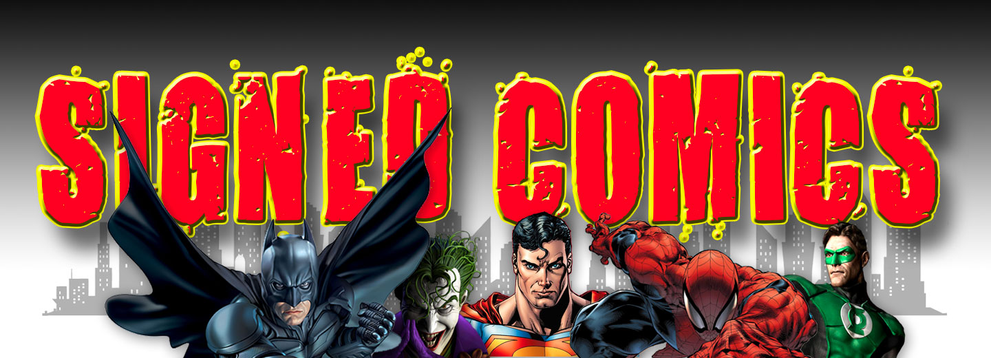 SIGNED COMICS LOGO DARK